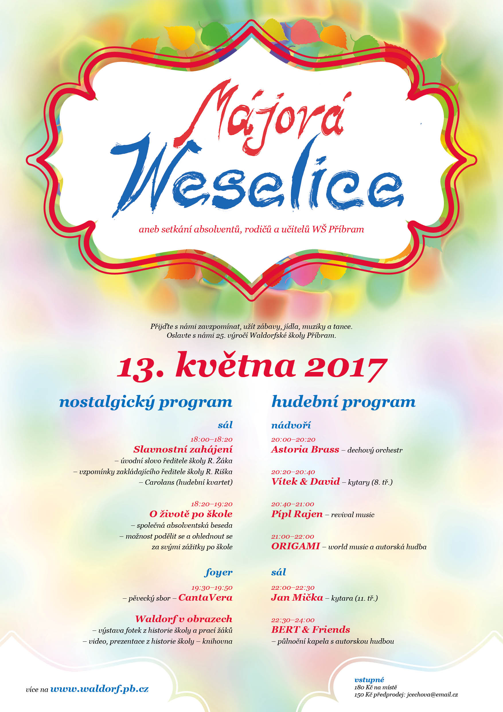 Majova weselice program